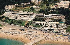Beach side hotel.