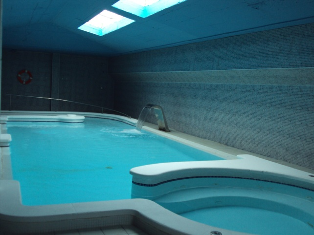 Indoor pool, payable locally